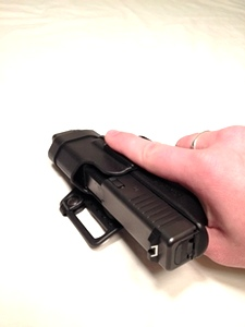 Blackhawk Serpa Holster for Glock: 26, 27, and 33.